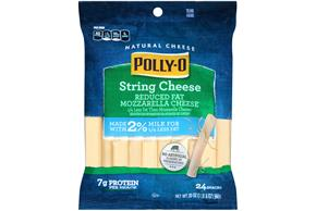 Polly-O Reduced Fat String Cheese - 24Ct