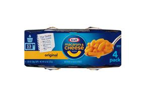 Kraft Original Flavor Macaroni & Cheese Dinner 4-2.05 oz. Microcups