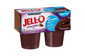 Jell-O Pudding Ready To Eat Chocolate Sugar Free 4 Ct Cups