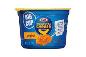 Kraft Original Flavor Macaroni & Cheese Dinner 4.1 oz. Microcup