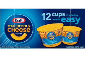 Kraft 24.6 Oz Easy Mac Cups Convenience Meals-Single Serve  Original     1 X 12Pk Box/Carton Inner P