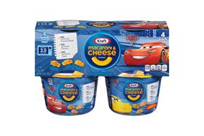 Kraft SpongeBob Shapes Macaroni & Cheese Dinner 4-1.9 oz. Microcups