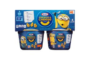 Kraft Minions Shapes Macaroni & Cheese Dinner 4-1.9 oz. Microcups