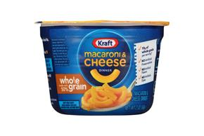 Kraft Whole Grain Original Flavor Macaroni & Cheese Dinner 2.0 oz. Microcup