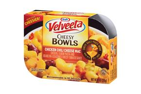 Kraft Velveeta Cheesy Bowls Chicken Chili Cheese Mac 9 oz. Tray