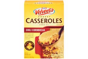 Kraft Velveeta Cheesy Casseroles Chili Cornbread Dinner Kit 11.1 oz. Box