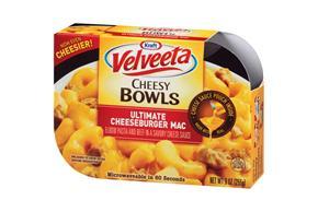 Kraft Velveeta Cheesy Bowls Ultimate Cheeseburger Mac 9 oz. Tray
