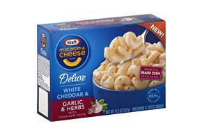 Kraft 11.9 Oz Deluxe Macaroni And Cheese Dinners-Liquid  White Cheddar & Garlic & Herbs     1 Box/Ca