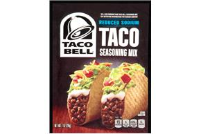 Taco Bell(R) Reduced Sodium Taco Seasoning Mix 1 oz. Packet