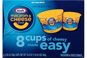 Kraft Original Flavor Macaroni & Cheese Dinner 8-2.05 oz. Microcups