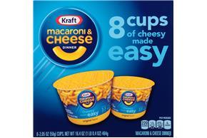 Kraft Original Flavor Macaroni & Cheese Dinner 8-2.05 oz. Microcups