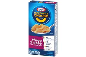 Kraft Dinners Three Cheese Macaroni & Cheese Dinner 7.25 oz. Box