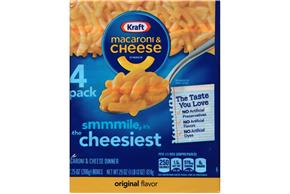 Kraft Original Flavor Macaroni & Cheese Dinner 4-7.25 oz. Boxes