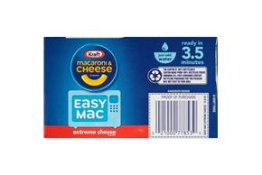Kraft Easy Mac Extreme Cheese Flavor Macaroni & Cheese Dinner 12.9 oz. Box