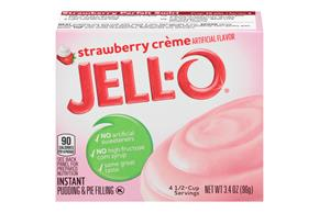 Jell-O Pudding-Instant Strawberry Creme 3.4 Oz Box