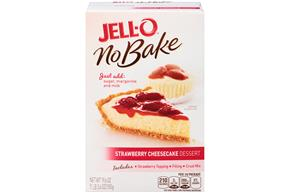 Jell-O  No Bake Strawberry Cheesecake Dessert Mix 19.6 Oz Box