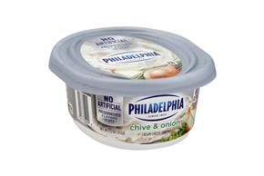 Philadelphia Chive And Onion Cream Cheese 8 Oz Tub