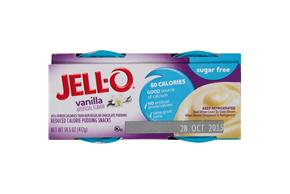 Jell-O 14.5 Oz Pudding-Refrigerated Ready To Eat Sugar Free Vanilla     1/4Pk Sleeve Each