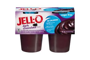 Jell-O Pudding Ready To Eat Dark Chocolate Sugar Free 4 Ct Cups