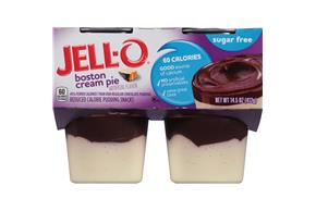 Jell-O Pudding Ready To Eat Boston Cream Pie Sugar Free 4 Ct Cups