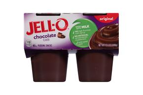 Jell-O Pudding Ready To Eat Chocolate 4 Ct Cups