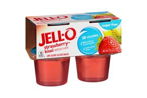 Jell-O Gelatin Ready To Eat  Strawberry-Kiwi Sugar Free 4 Ct Cups