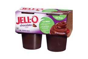 Jell-O Pudding Ready To Eat Chocolate Fat Free 4 Ct Cups