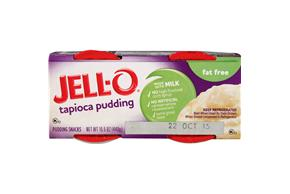 Jell-O Pudding Ready To Eat Tapioca  Fat Free 4 Ct Cups