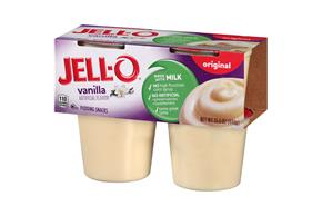 Jell-O Vanilla Pudding Snacks 4 Ct Cups