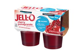 Jell-O Gelatin Ready To Eat Cherry Pomegranate Sugar Free 4 Ct Cups