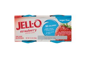 Jell-O Gelatin Ready To Eat Strawberry Sugar Free 4 Ct Cups