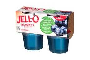 Jell-O Gelatin Ready To Eat Berry Blue Sugar Sweetened 4 Ct Cups