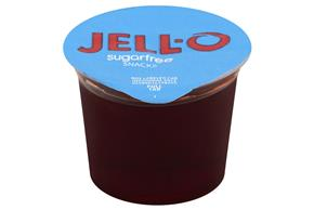 Jell-O Gelatin Ready To Eat Sugar Free Black-Cherry 4 Ct Cups