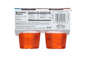 Jell-O 12.5 Oz Gelatin-Refrigerated Ready To Eat Sugar Free Orange     1/4Pk Sleeve Each