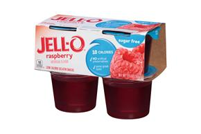 Jell-O 12.5 Oz Gelatin-Refrigerated Ready To Eat Sugar Free Raspberry     1/4Pk Sleeve Each