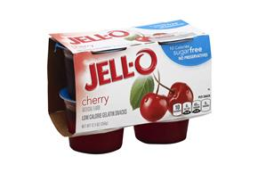 Jell-O Gelatin Ready To Eat Cherry Sugar Free 4 Ct Cups