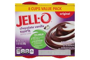 Jell-O Pudding Ready To Eat Chocolate Vanilla Swirl 8 Ct Cups