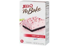 Jell-O No Bake Candy Cane Dessert Mix 10.4 Oz Box
