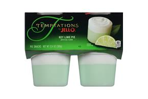 Jell-O Temptations Pudding Ready To Eat Key Lime Pie 4 Ct Cups