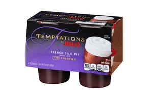 Jell-O Temptations Pudding Ready To Eat French Silk Pie 4 Ct Cups