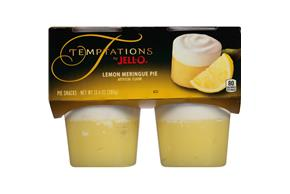 Jell-O Temptations Pudding Ready To Eat Lemon Meringue Pie 4 Ct Cups