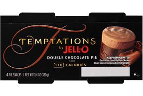 Jell-O Temptations Pudding Ready To Eat Double Chocolate Pie 4 Ct Cups