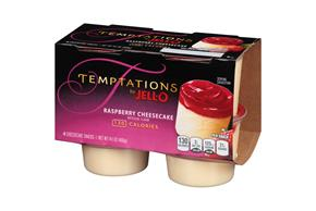 Jell-O Temptations Pudding Ready To Eat Raspberry Cheesecake 4 Ct Cups