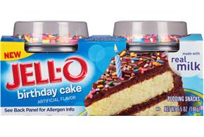 Jell-O Birthday Cake Pudding Snacks 2 Ct. Cups