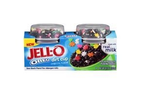 Jell-O Oreo Dirt Cup Pudding Snacks 2 Ct Cups
