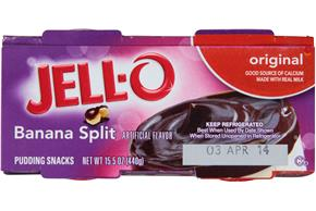 Jell-O Pudding Ready To Eat Banana Split 4 Ct Cups