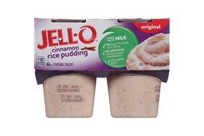Jell-O Pudding Ready To Eat Rice Cinnamon 4 Ct Cups