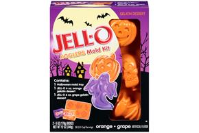 Jell-O Jigglers Mold Kit Halloween Mixed Sugar Sweetened 12 Oz Box