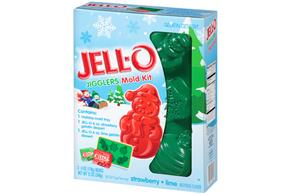 Jell-O Jigglers Mold Kit Holiday Mixed Sugar Sweetened 12 Oz Box