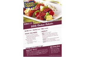 Kraft Shake 'n Bake BBQ Glaze Seasoned Coating Mix 6 oz. Box
